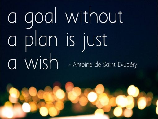 Goal without plan is just a wish